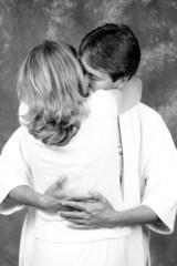 black & white 3/4 bedtime hug
