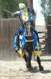 knight charging on horseback poster