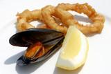 mussel, calamari and lemon, appetizer poster