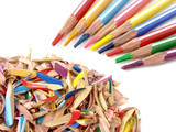 pencils and shavings poster