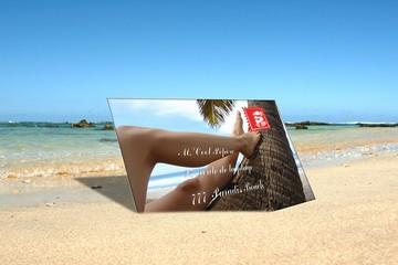carte postal de vacances
