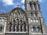 detail facade basilique de vezelay poster