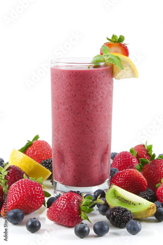 Leinwandbild Motiv berry smoothie