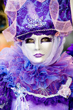 a woman in costume at the venice carnival (8) poster