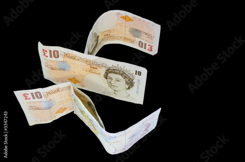 money english pound notes concept
