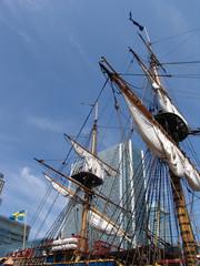 sail ship in london