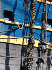 sailing ship side section