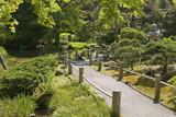 the japanese tea garden walkway poster