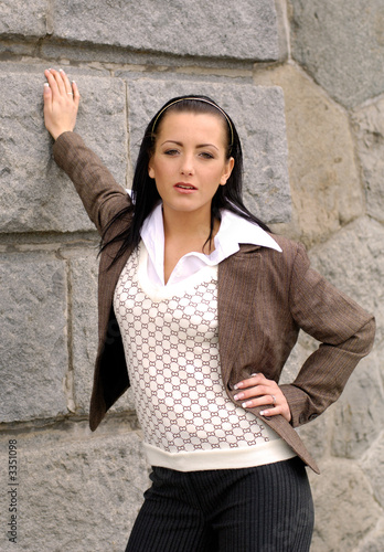 portrait of girl in business dress