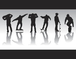 skate figure silhouettes