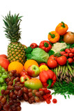 vibrant vegetables and fruits poster