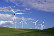 canvas print picture - power generating windmills