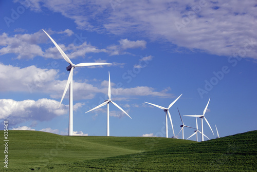 canvas print picture power generating windmills