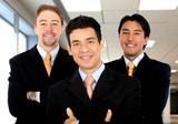 business office teamwork - men only poster