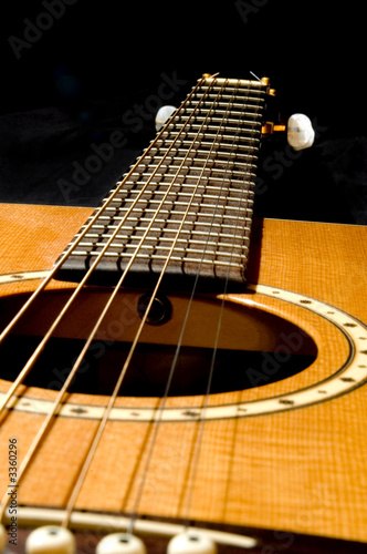 acoustic guitar on black 2