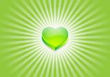 coeur flash vert poster