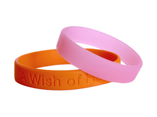 silicone  wristbands together