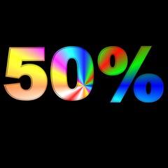 percentuale 50