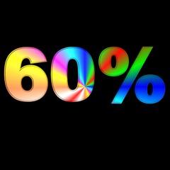 60 percentuale colorata