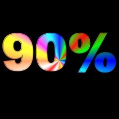 90 percentuale