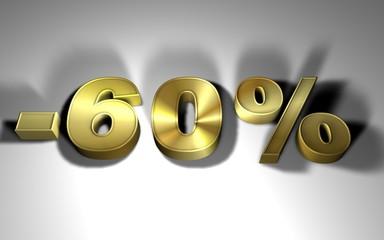 percentuale oro -60