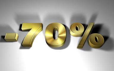 percentuale in oro -70