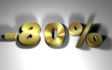 -80 percentuale in oro