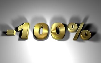 -100 percentuale oro