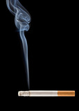 cigarette smoke coming from a burning cigarette poster