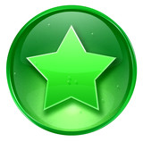 favorite icon. with clipping path poster