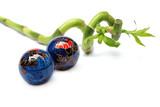 lucky bamboo and zen balls poster