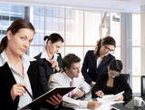 businesspeople work in team poster