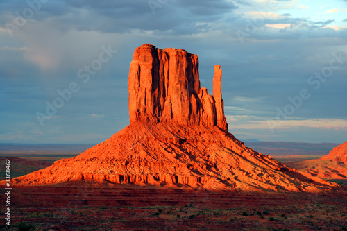 a mitten of monument valley