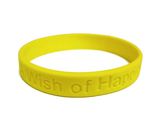 yellow silicone wristband