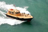 pilot boat in government cut poster