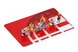 miniature shoppers on a credit card