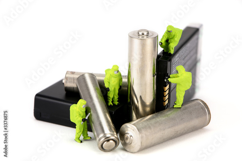Leinwanddruck Bild concept: battery recycling