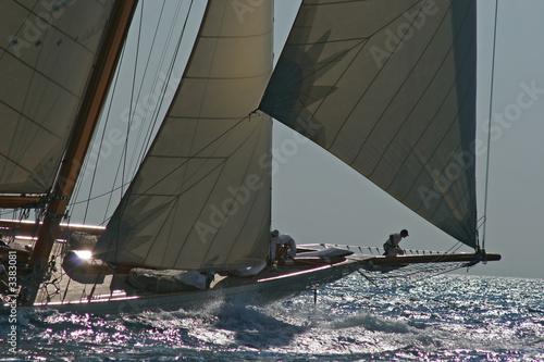 bateau à voile en mer - 3383081
