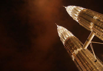 twin towers (gold)