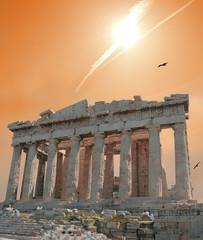 shooting star over the acropolis