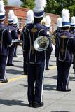 school band at parade poster