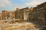 view of part of roman forum poster