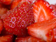 fresh strawberries, sliced and diced
