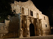 The alamo mission at night in San Antonio Texas