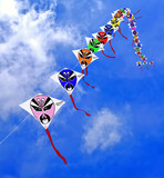 china, shanghai: flying the kites poster