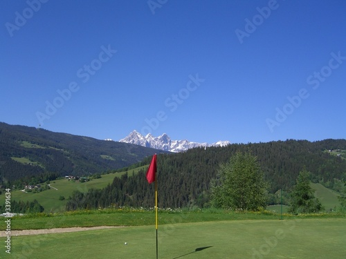 golfcourse in the mountains, golfkurs