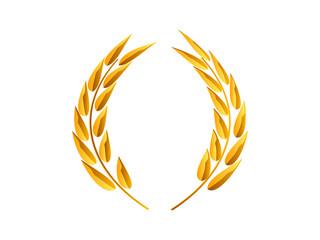 couronne de laurier en or