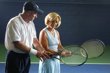 senior health and fitness tennis instruction grip