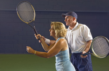 senior health and fitness tennis instruction