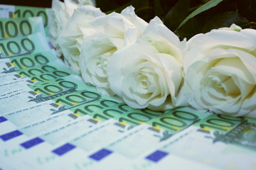 bunch of roses over  euro